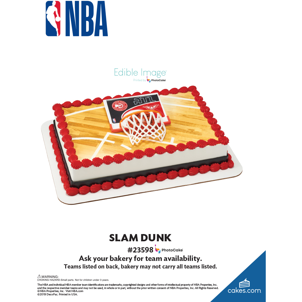 NBA Slam Dunk Team The Magic of Cakes® Page