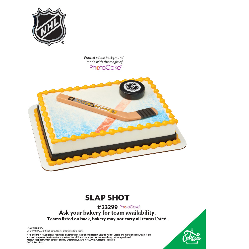 NHL® Slap Shot All Teams PhotoCake® Background The Magic of Cakes® Page