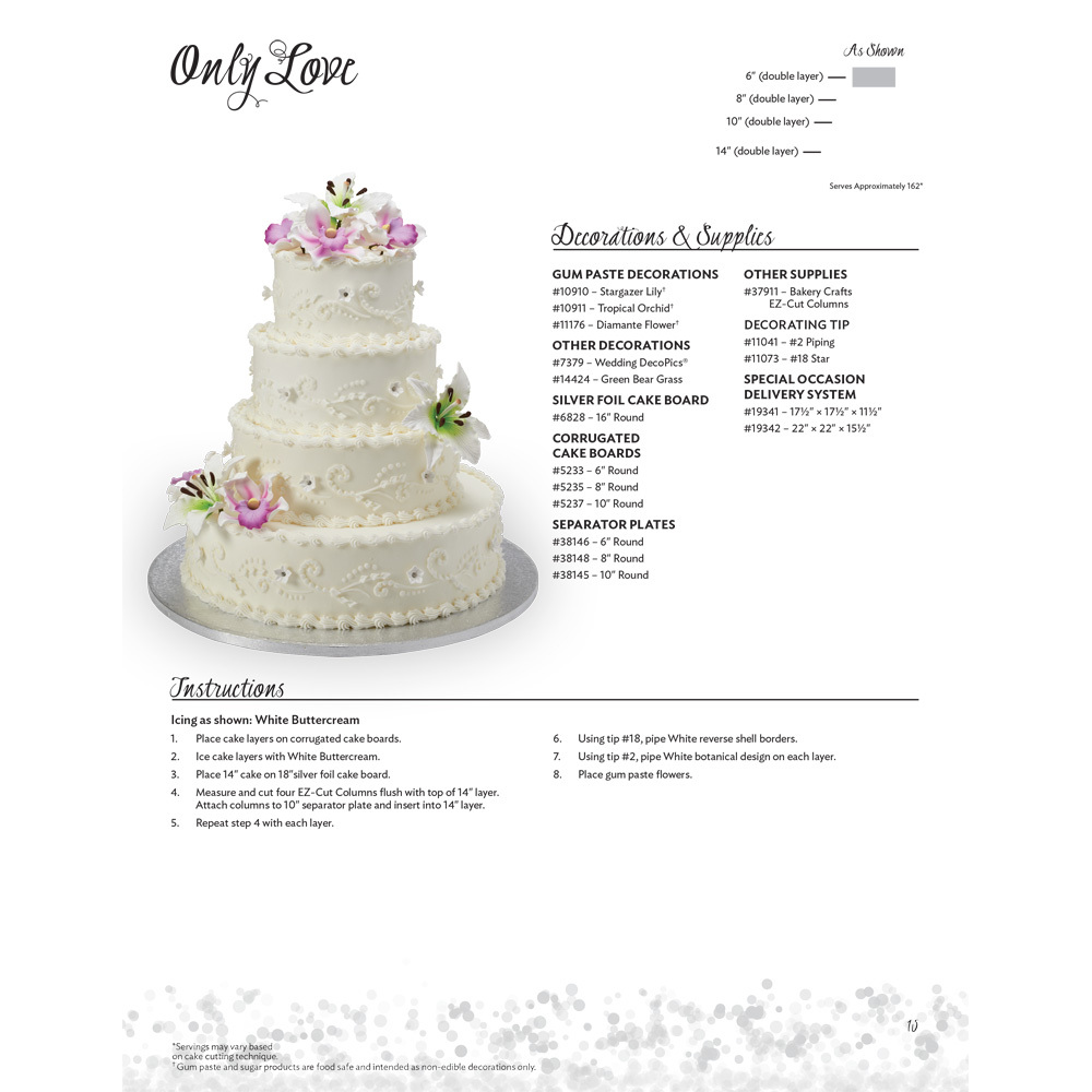 Only Love Stacked Wedding Cake Decorating Instructions | DecoPac
