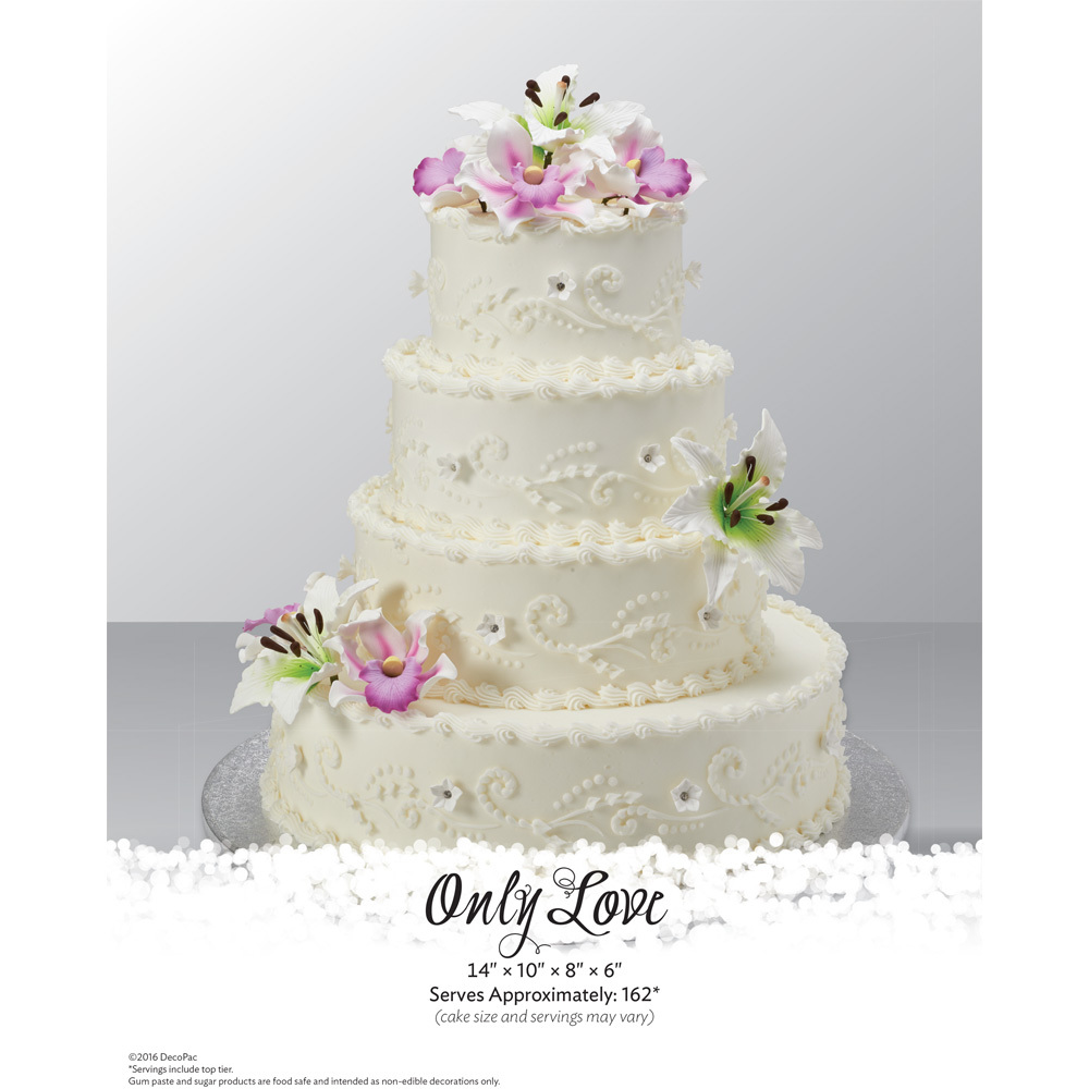 Only Love Stacked Wedding Cake The Magic Of Cakes® Page | DecoPac