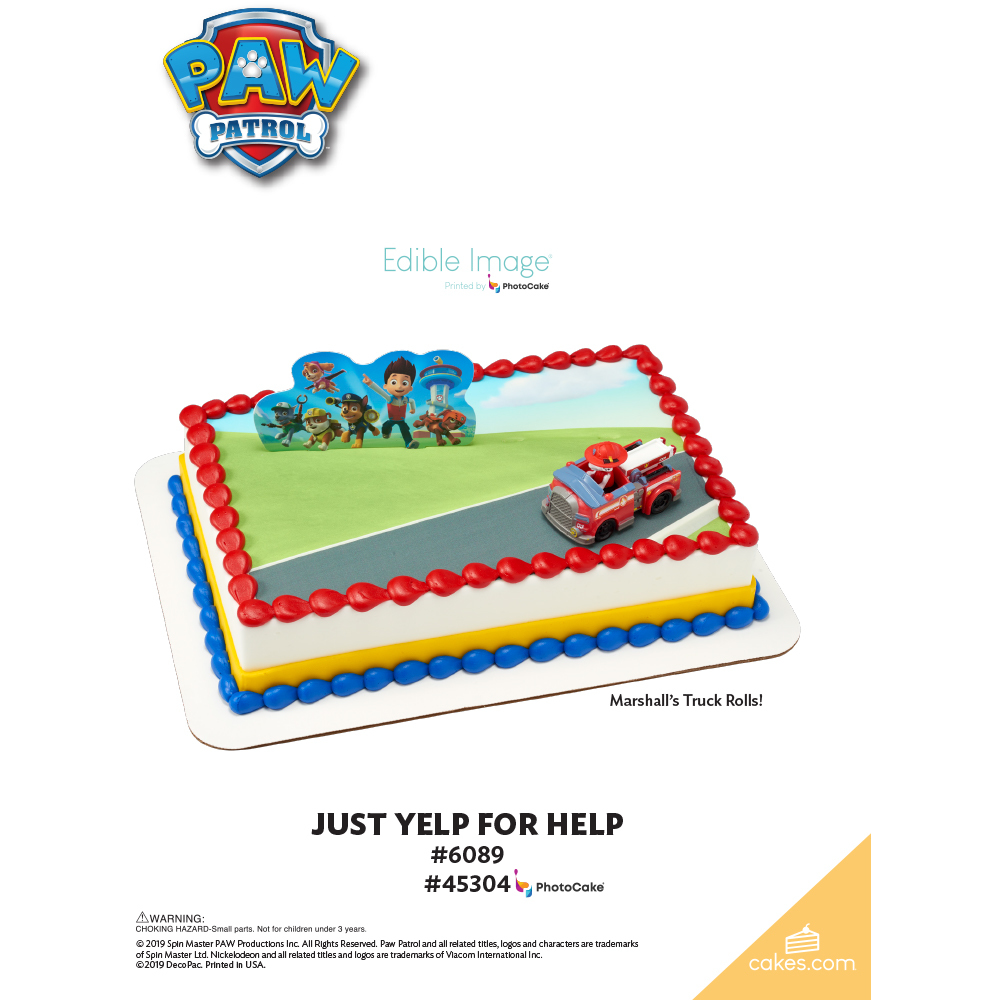 PAW Patrol™ Just Yelp for Help The Magic of Cakes® Page