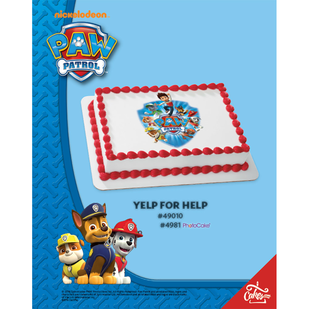 PAW Patrol™ Yelp for Help PhotoCake® / Edible Image® The Magic of Cakes® Page