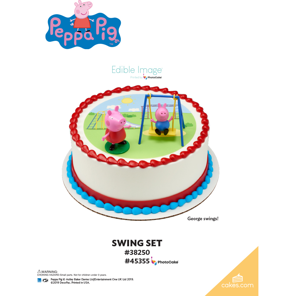 Peppa Pig™ Swing Set The Magic of Cakes® Page