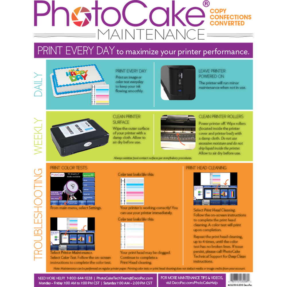 PhotoCake® Conversion Printer Cleaning Instructions