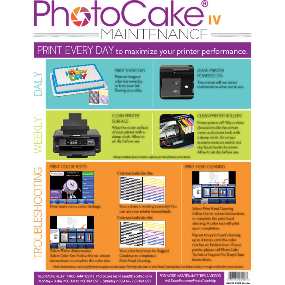 PhotoCake® IV Printer Cleaning Instructions