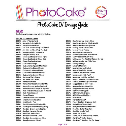 PhotoCake® IV Update 37 Enhancement Guide