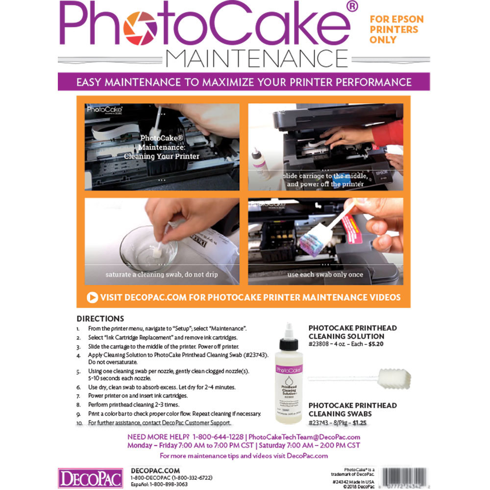 PhotoCake® Maintenance Cleaning Solution