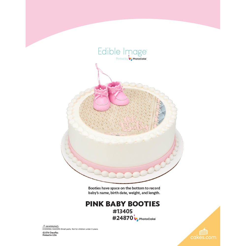 Pink Baby Booties The Magic of Cakes® Page