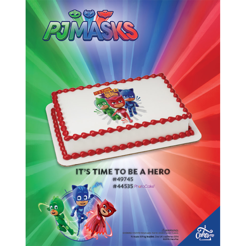 PJ Masks It's Time to be a Hero PhotoCake® Image The Magic of Cakes® Page