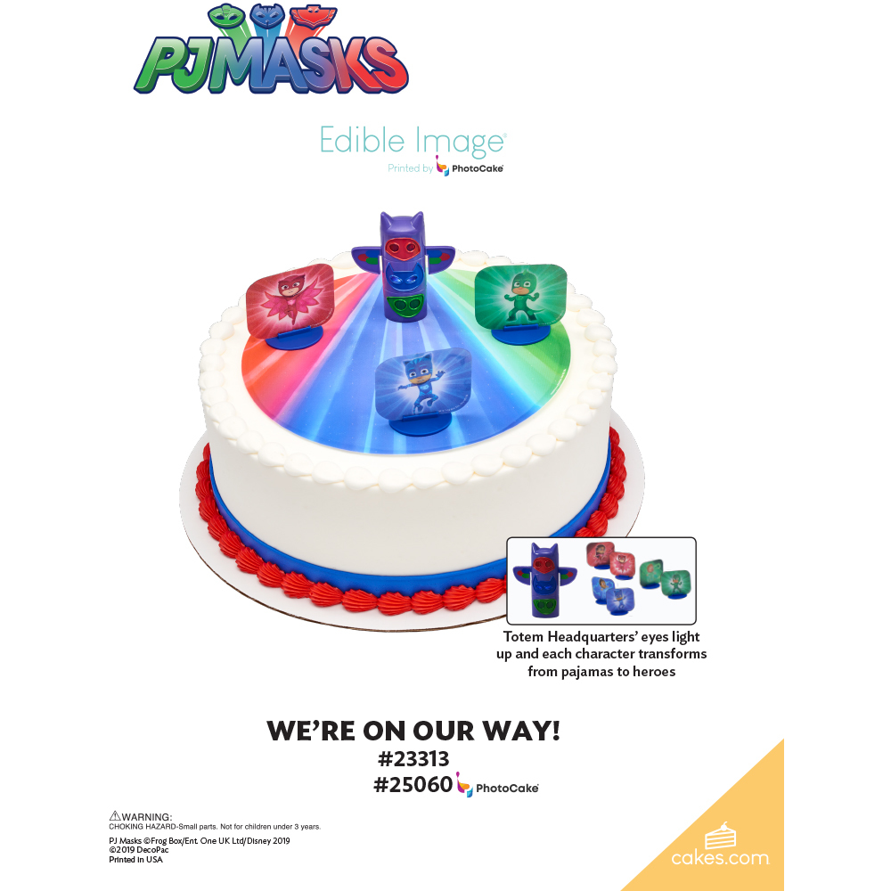 PJ Masks We're On Our Way! The Magic of Cakes® Page