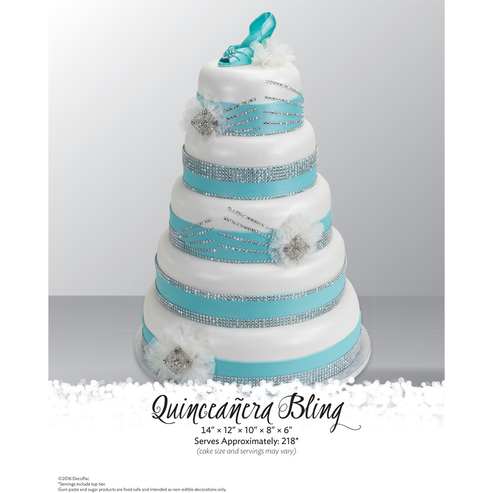 Quinceanera Bling Stacked Cake The Magic Of Cakes® Page | DecoPac