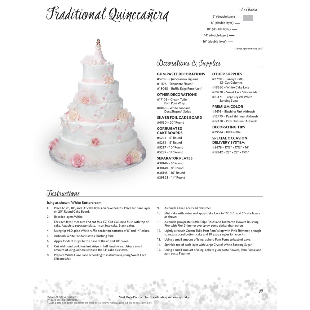 Quinceanera Traditional Stacked Cake Decorating Instructions | DecoPac