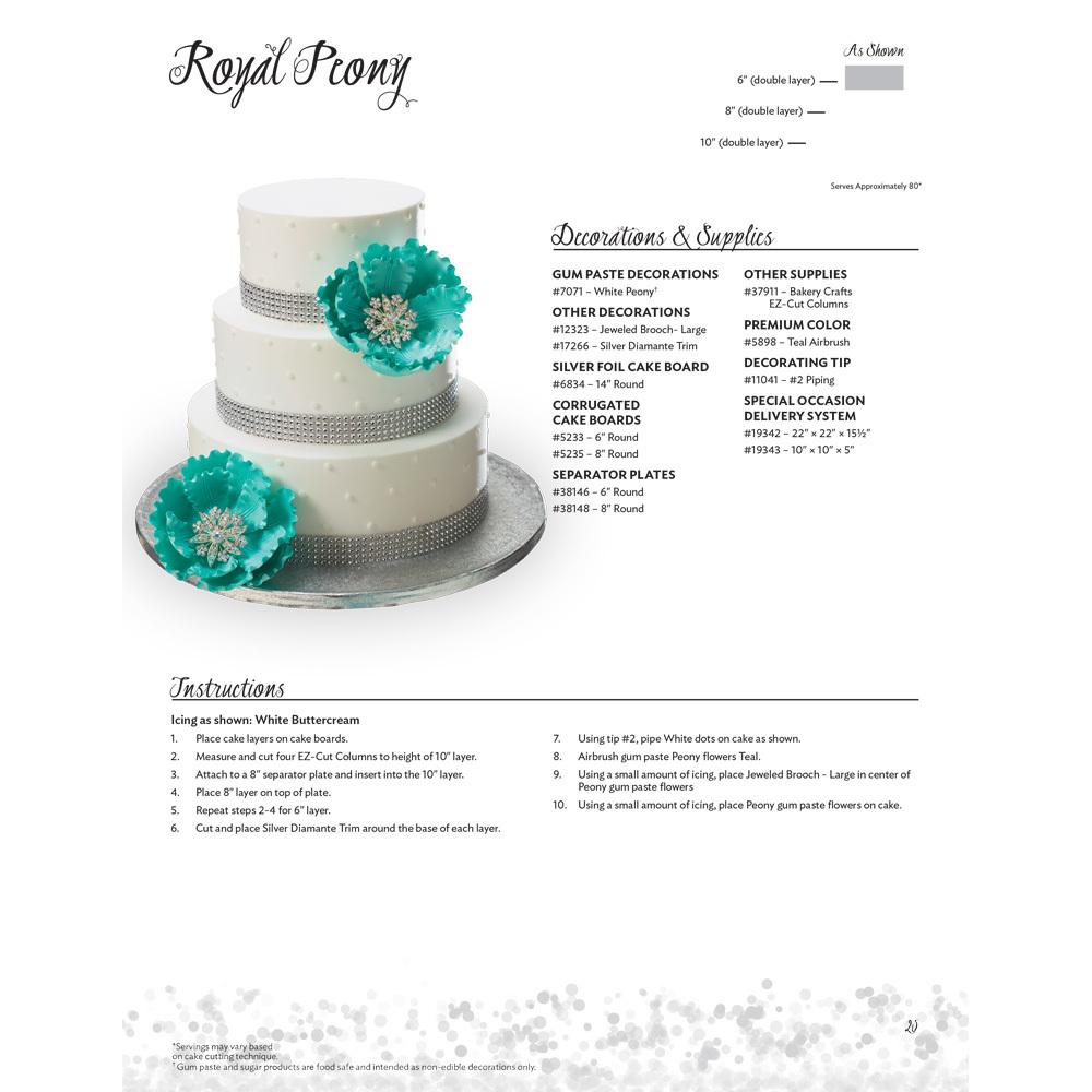 Royal Peony Stacked Wedding Cake Decorating Instructions | DecoPac