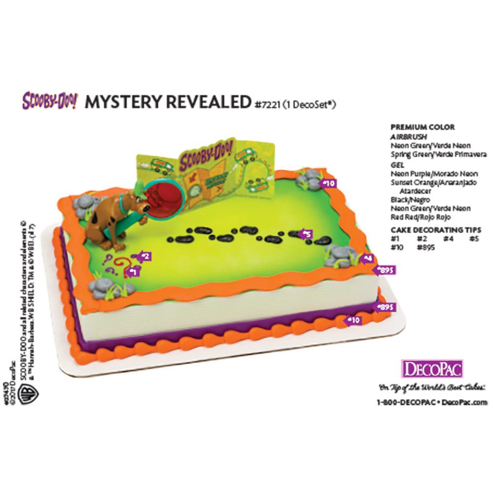 Scooby Doo Mystery Revealed Cake Decorating Instruction Card