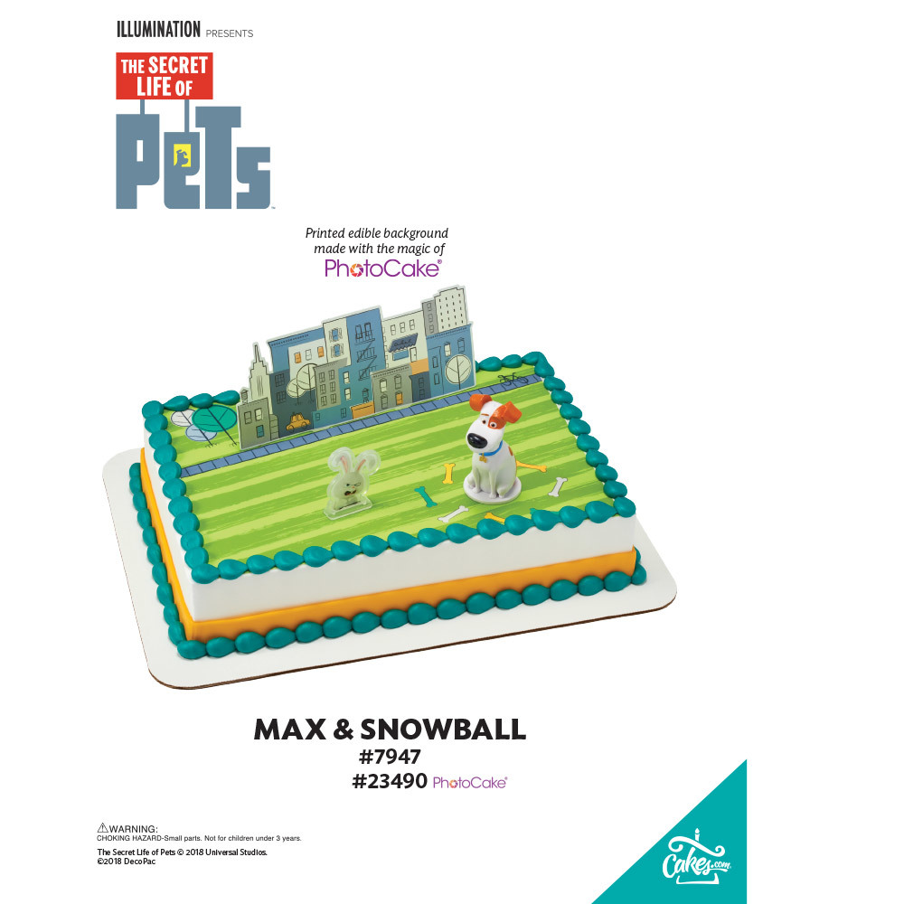 Secret Life of Pets™ Max and Snowball PhotoCake® Background The Magic of Cakes® Page