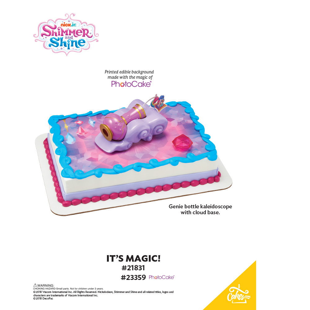 Shimmer and Shine™ It's Magic PhotoCake® Background The Magic of Cakes® Page