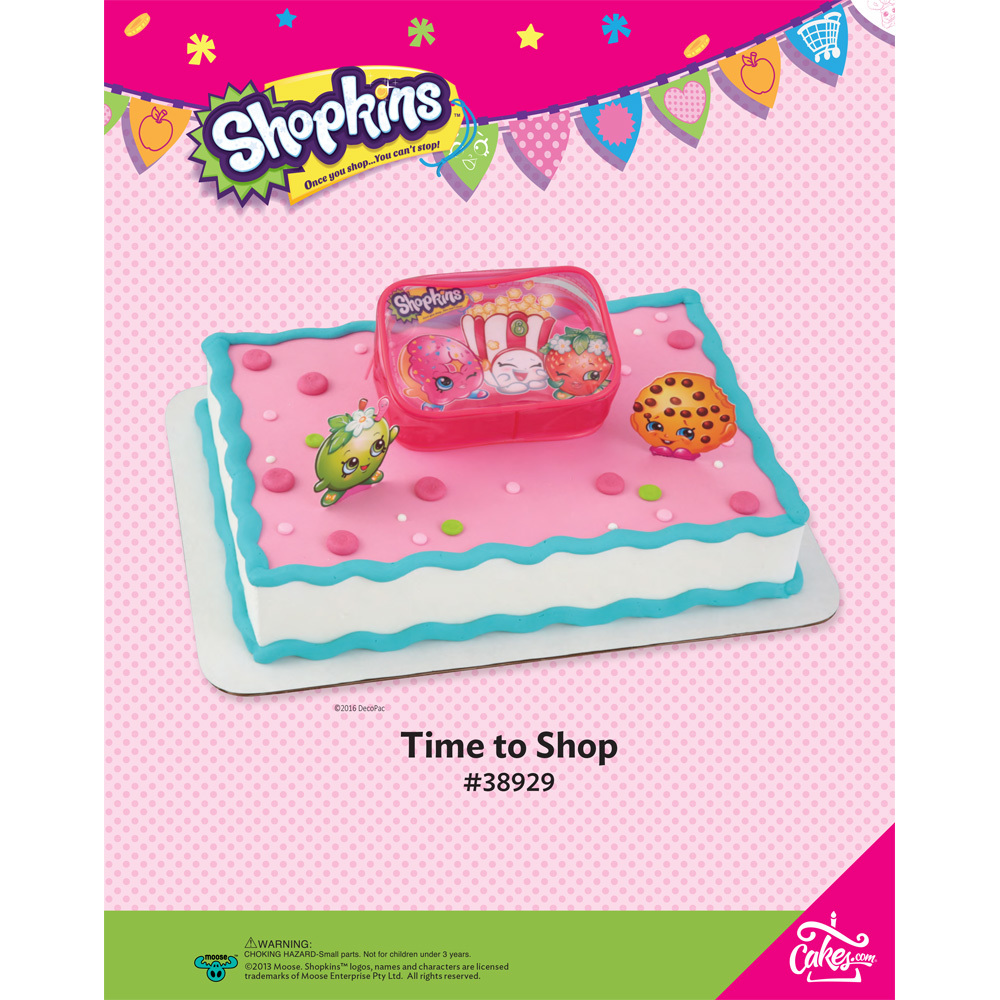 shopkins time to shop decoset 1 4 sheet the magic of cakes page
