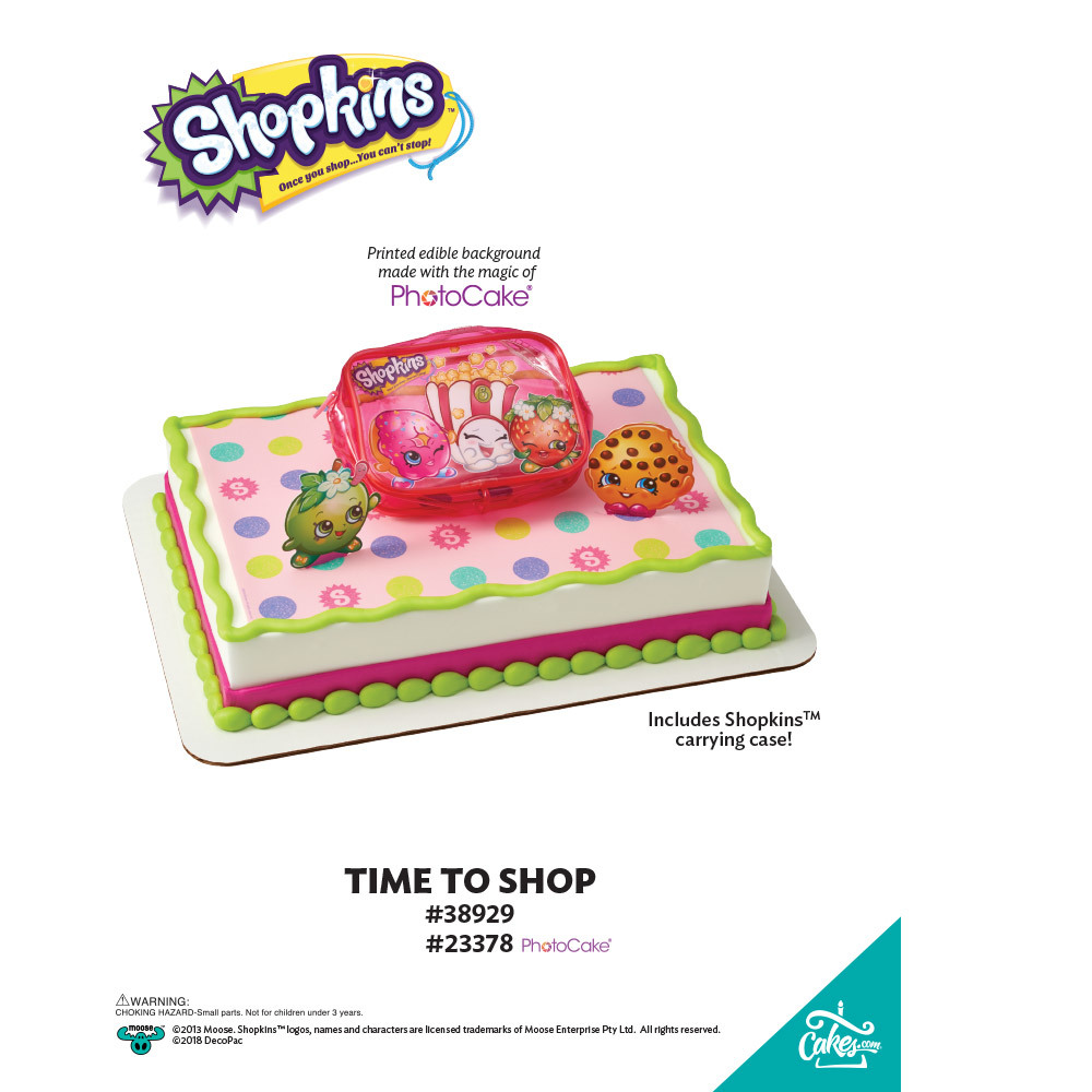 Shopkins™ Time to Shop PhotoCake® Background The Magic of Cakes® Page