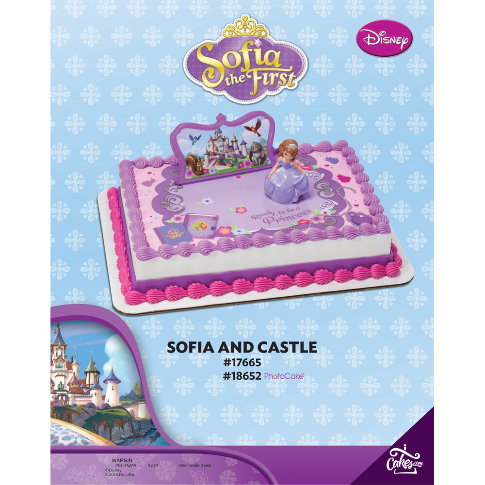 Sofia the First and Castle DecoSet® Background 1/4 Sheet The Magic Of Cakes® Page