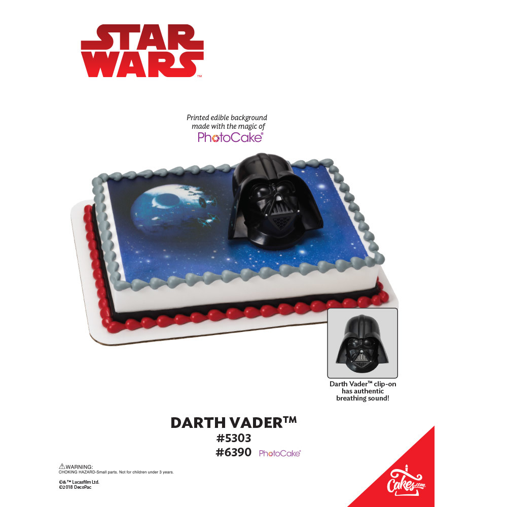 Star Wars™ Darth Vader PhotoCake® Background The Magic of Cakes® Page