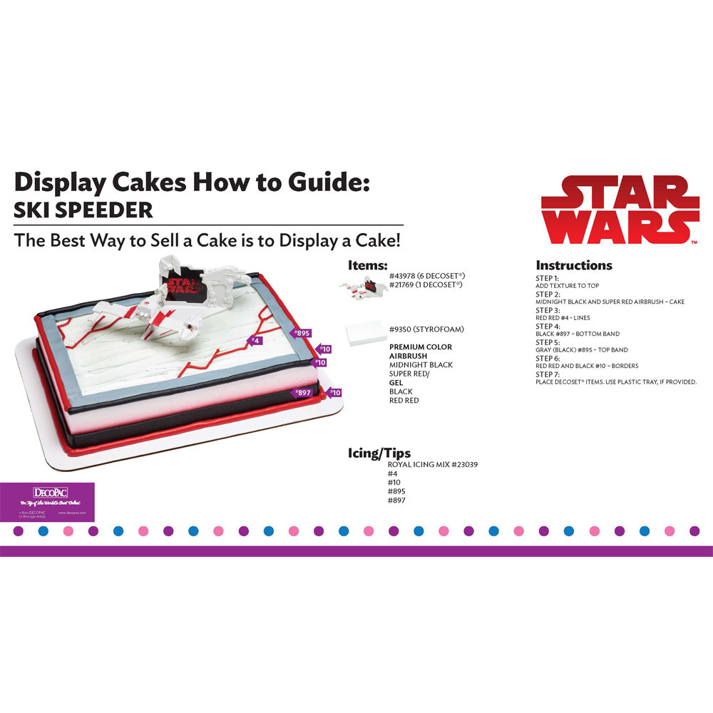 Star Wars Ski Speeder Display Cake Guide
