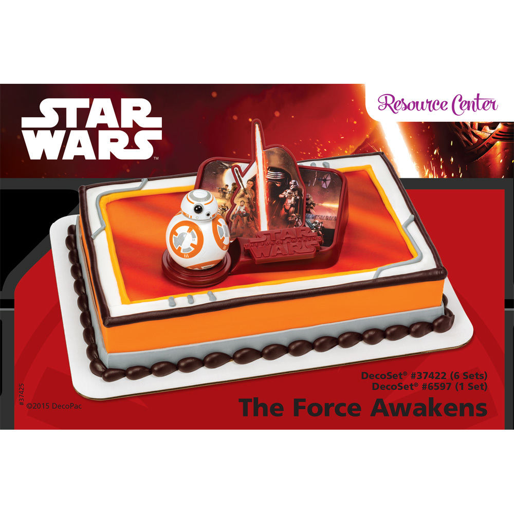 Star Wars The Force Awakens DecoSet 14 Sheet Cake Decorating
