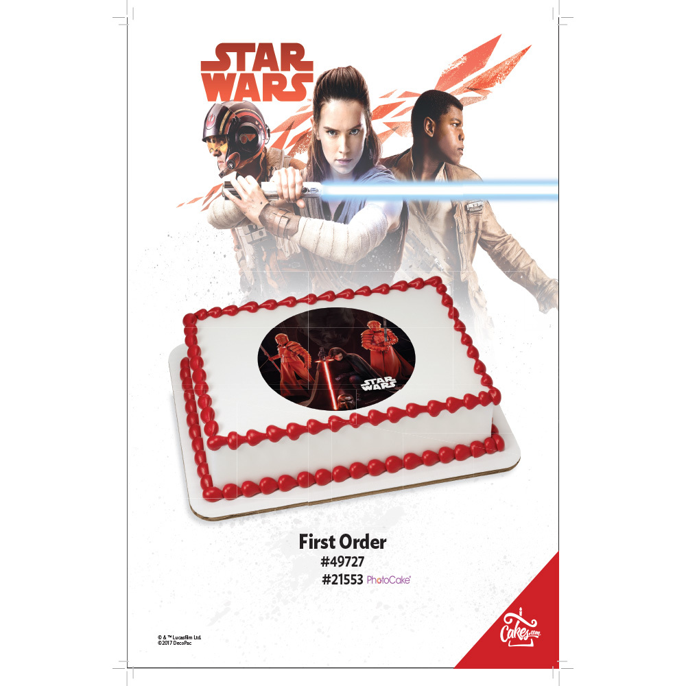 Star Wars™: The Last Jedi First Order PhotoCake® / Edible Image® 1/4 Sheet The Magic Of Cakes® Page