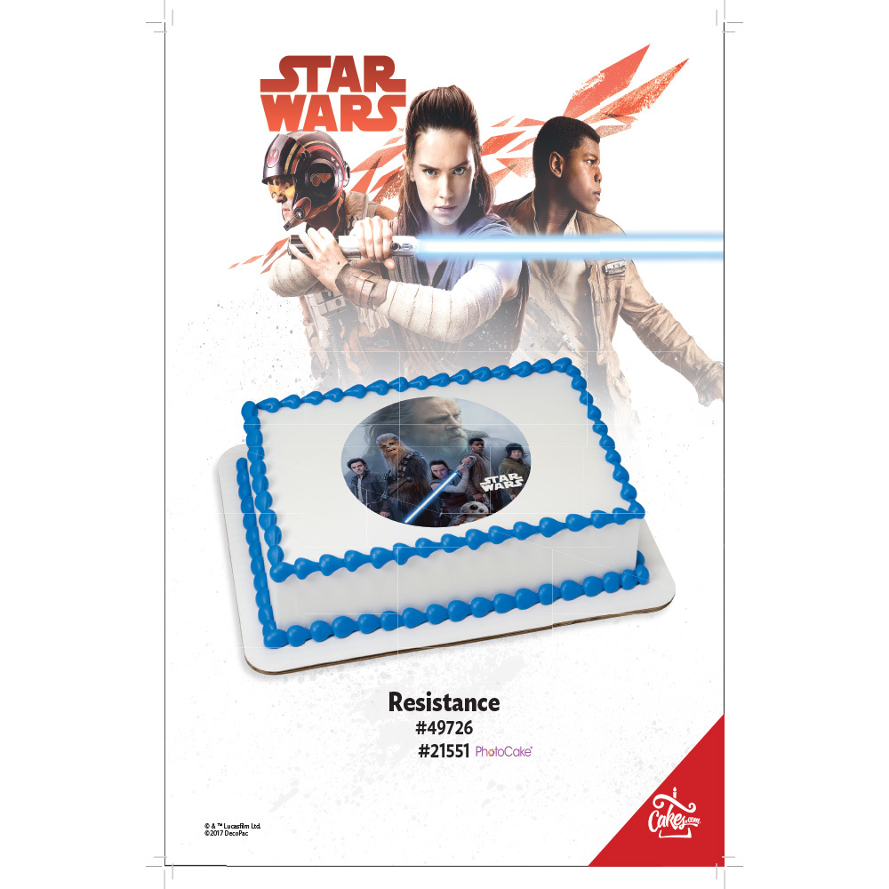 Star Wars™: The Last Jedi Resistance PhotoCake® Edible Image® 1/4 Sheet The Magic Of Cakes® Page