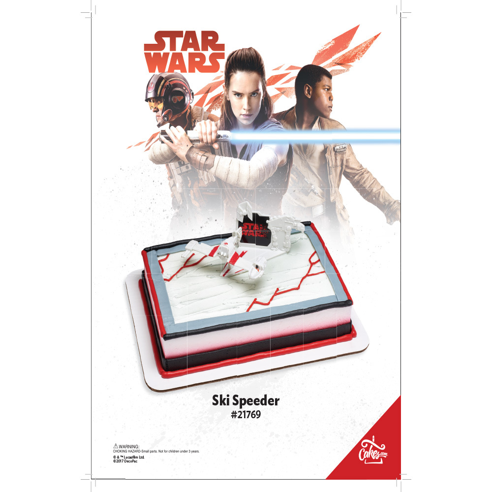Star Wars™: The Last Jedi Ski Speeder DecoSet® The Magic Of Cakes® Page