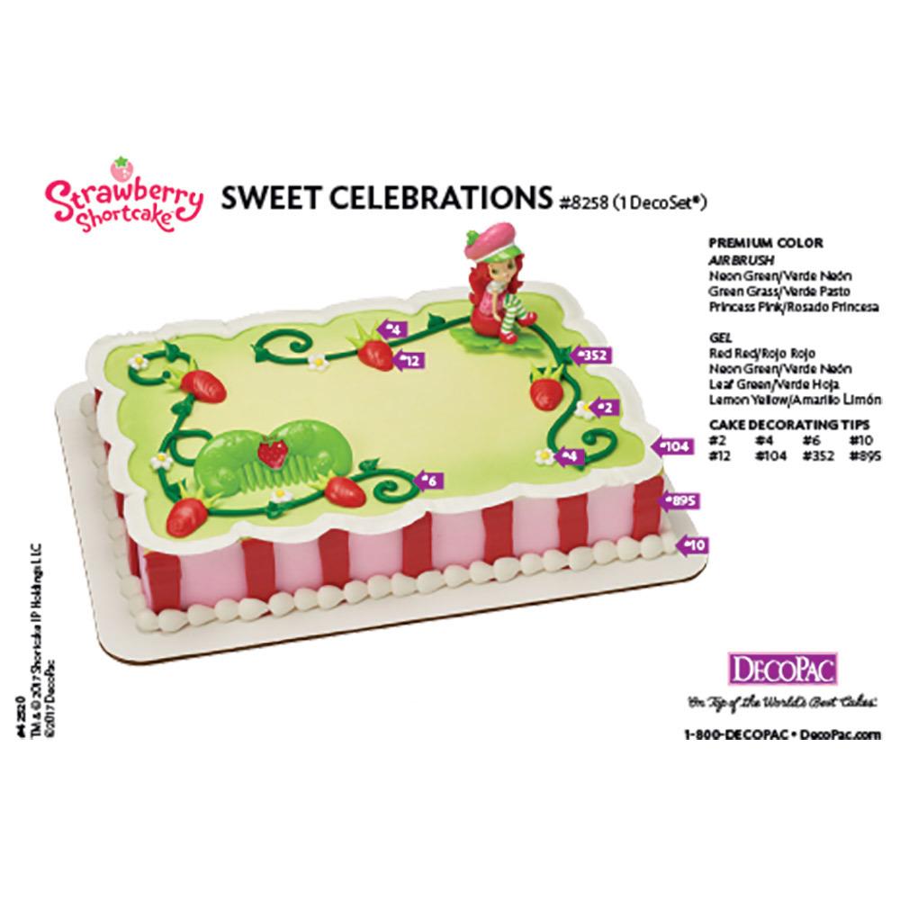 Strawberry Shortcake Sweet Celebrations DecoSet® Cake Decorating Instruction Card