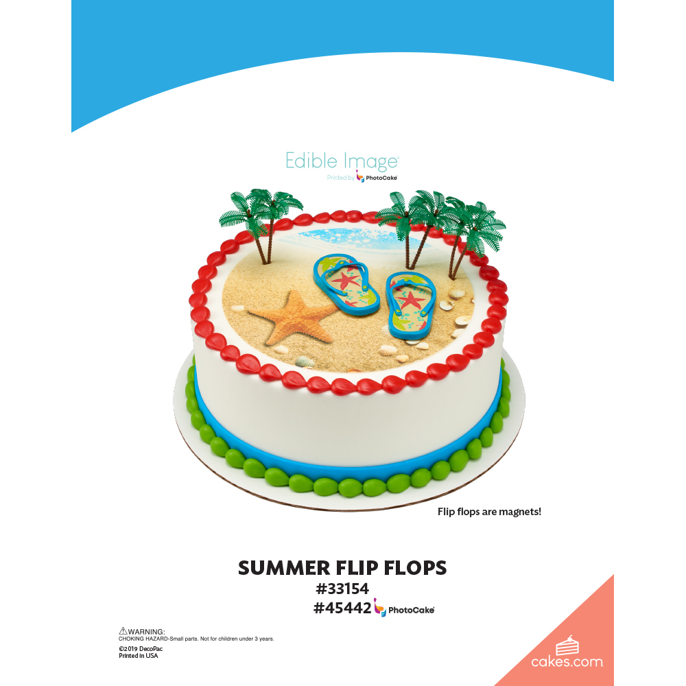Cool Summer Flip Flops The Magic Of Cakes Page Decopac Birthday Cards Printable Inklcafe Filternl