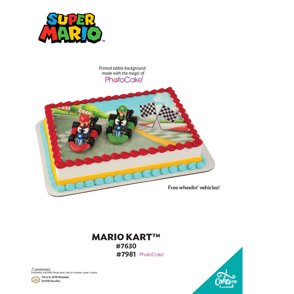 Super Mario™ Mario Kart™ PhotoCake® Background The Magic of Cakes® Page