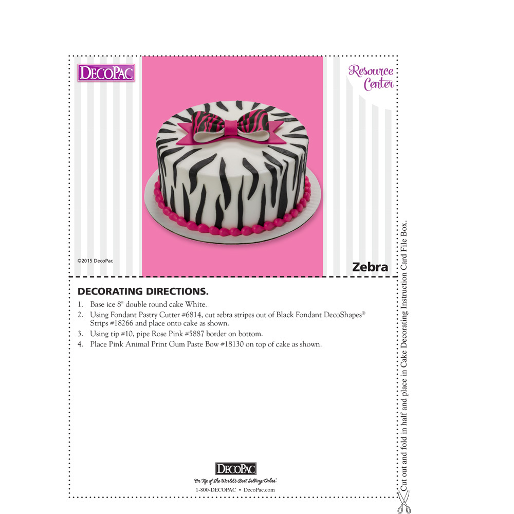 Sweet & Stylish Zebra Round Cake Decorating Instructions | DecoPac