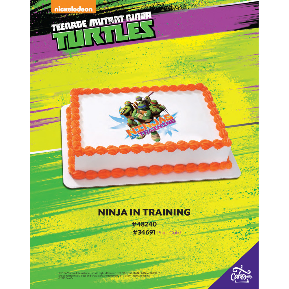 Teenage Mutant Ninja Turtles Turtles in Training PhotoCake® 1/4 Sheet The Magic Of Cakes® Page