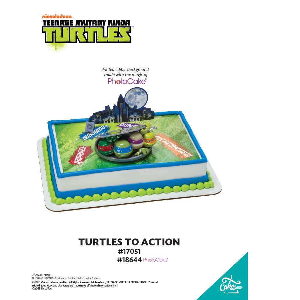 Teenage Mutant Ninja Turtles Turtles to Action PhotoCake® Background The Magic of Cakes® Page