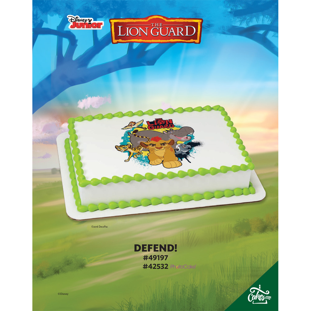 The Lion Guard Defend! Edible Image®/PhotoCake® Image The Magic of Cakes® Page