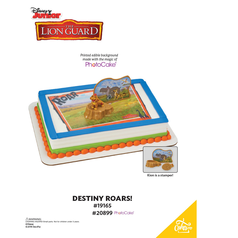 The Lion Guard Destiny Roars! PhotoCake® Background The Magic of Cakes® Page