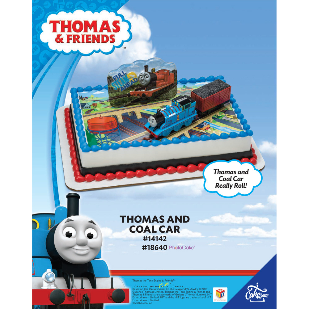 Thomas Friends Coal Car DecoSetR Background 1 4 Sheet The Magic Of CakesR Page