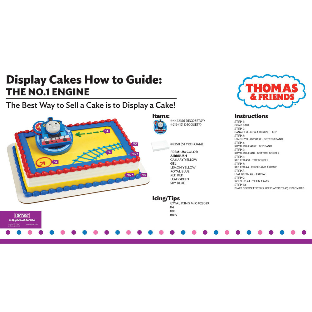 21Thomas & Friends the No.1 Engine Display Cake Guide