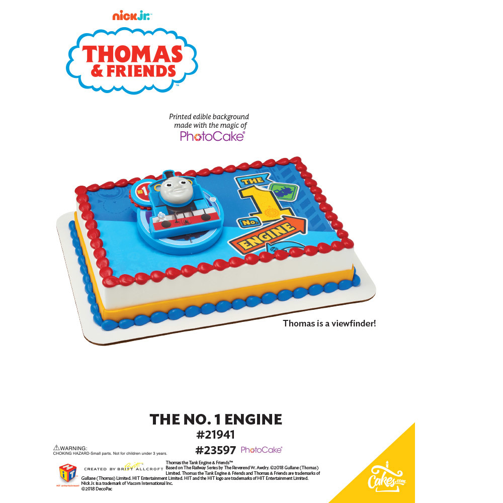 Thomas - The No. 1 Engine PhotoCake® Background The Magic of Cakes® Page