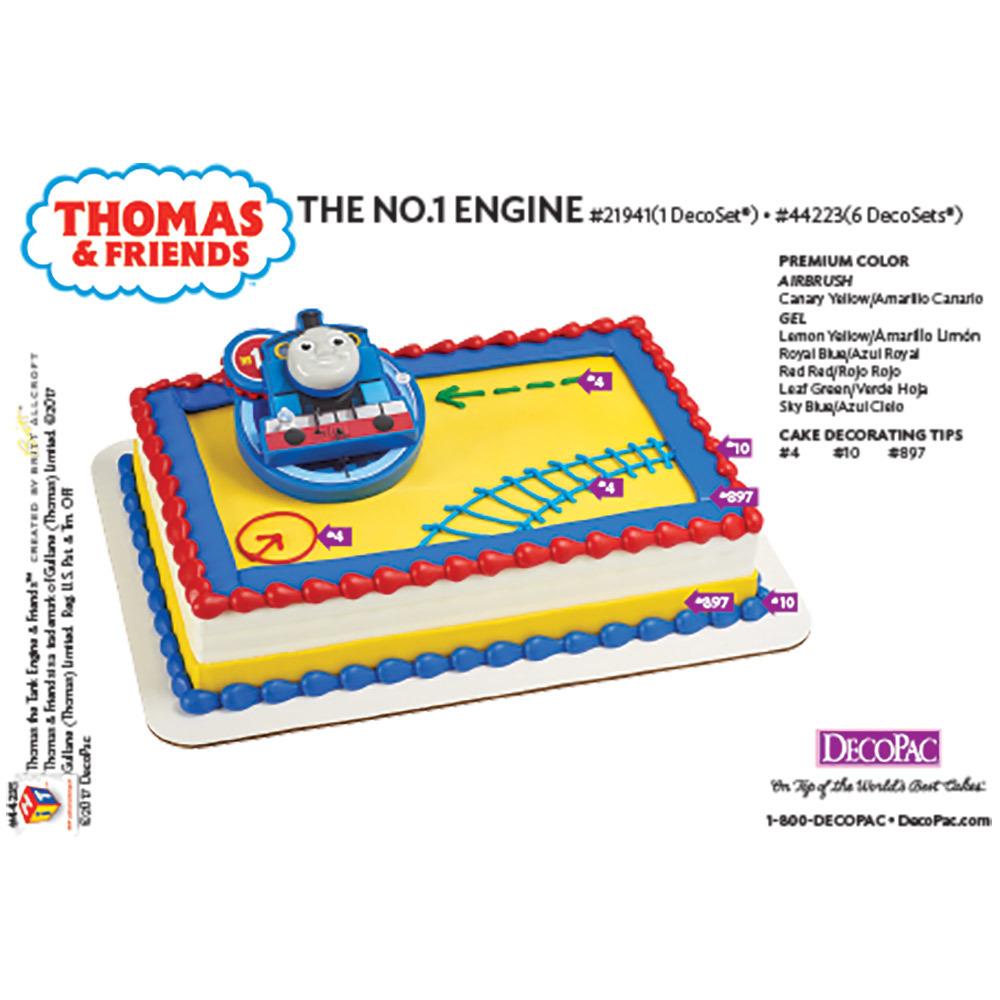 Thomas the NO.1 Engine DecoSet® Cake Decorating Instruction Card