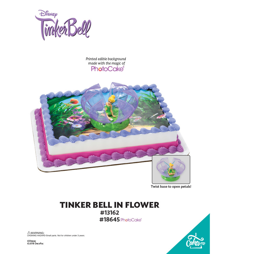 Tinker Bell in Flower PhotoCake® Background The Magic of Cakes® Page