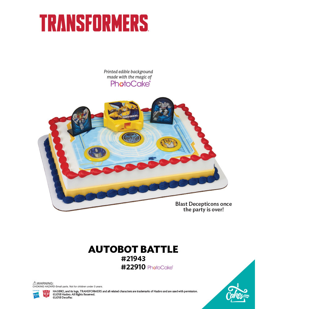 Transformers® Autobot Battle PhotoCake® Background The Magic of Cakes® Page