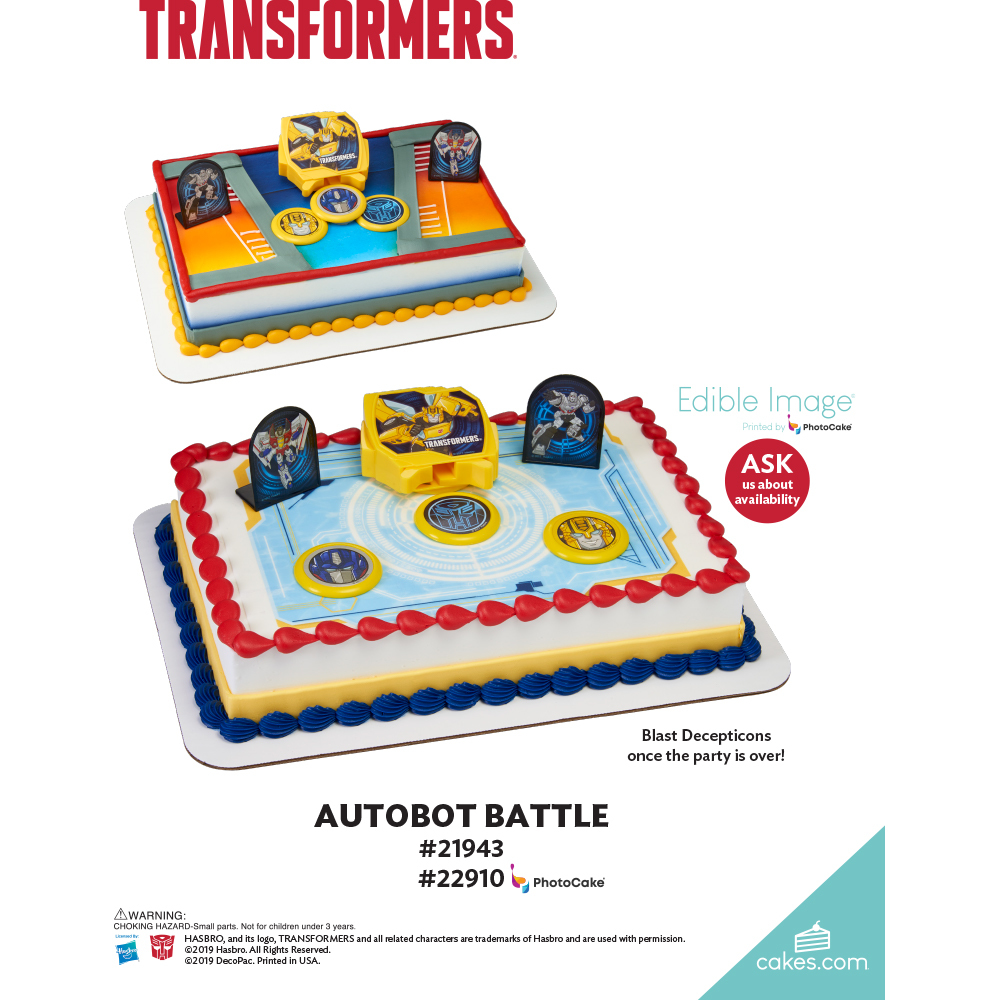 Transformers™ Autobot Battle The Magic of Cakes® Page