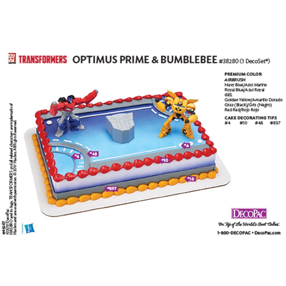 Transformers Optimus Prime & Bumbleebee DecoSet® Cake Decorating Instruction Card