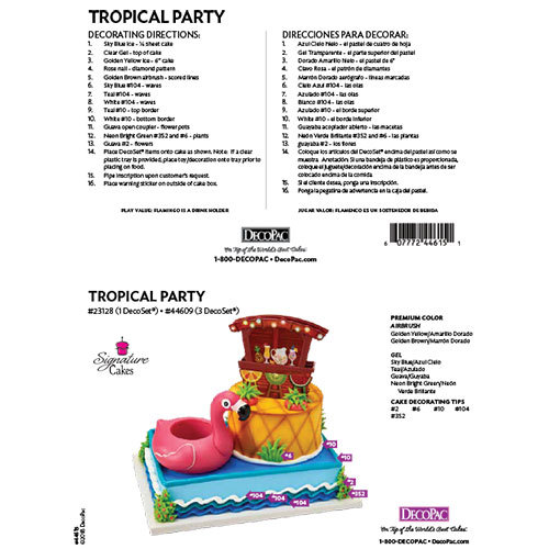 Tropical Party Signature DecoSet® The Magic of Cakes® Page