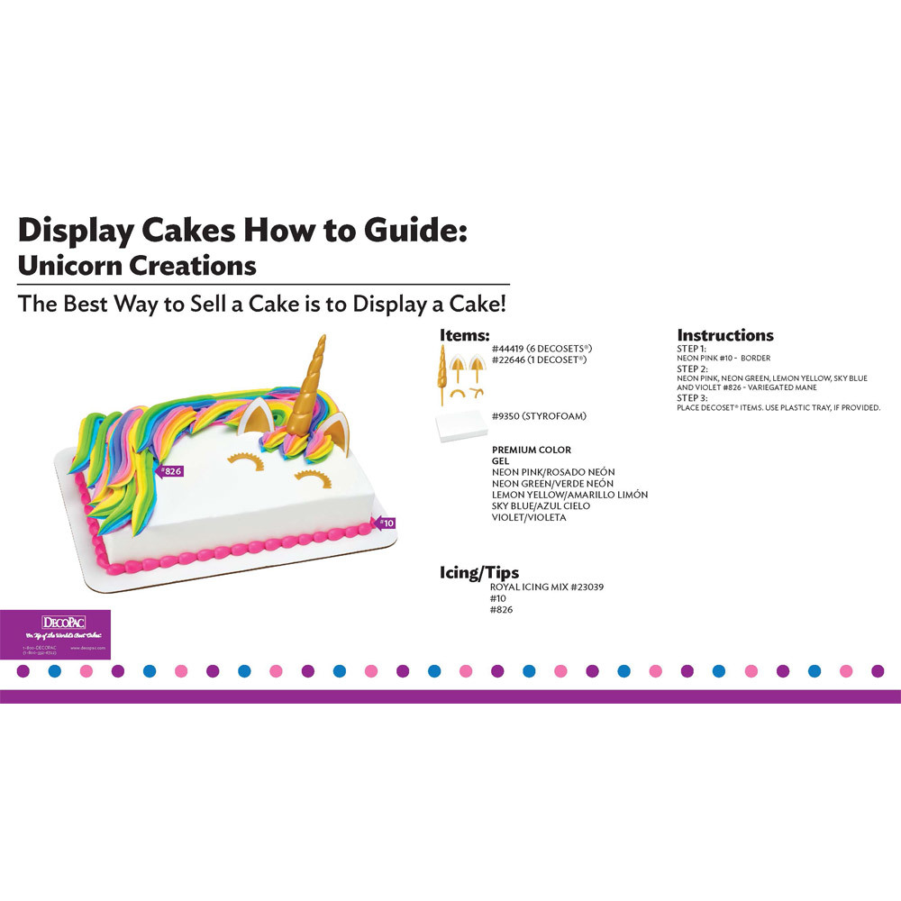 Unicorn Creations Display Cake Guide