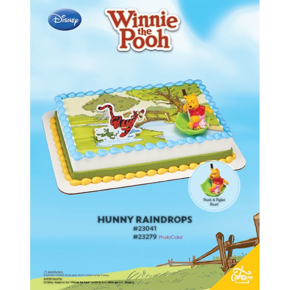 Winnie The Pooh Hunny Raindrops Enhanced Background The Magic of Cakes® Page