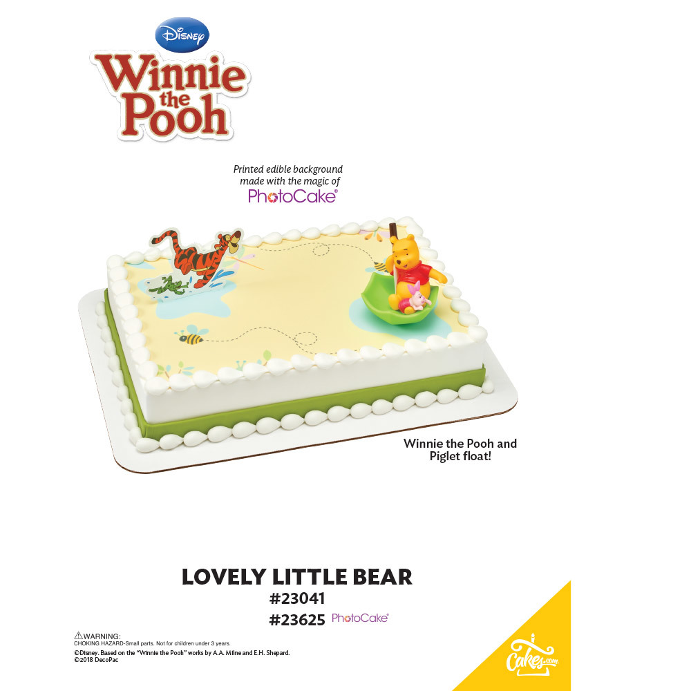 Winnie the Pooh Lovely Little Bear PhotoCake® Background The Magic of Cakes® Page