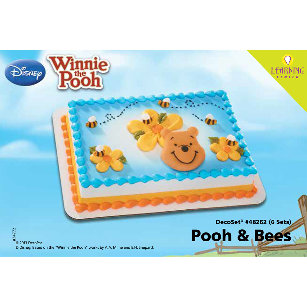 Winnie The Pooh Pooh And Bees Edible Decoset 14 Sheet Cake